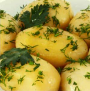 Картофель отварной с маслом изеленью
