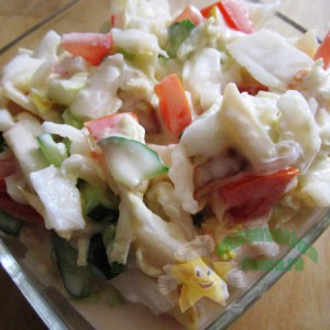 Салат из пекинской капусты с яблоками