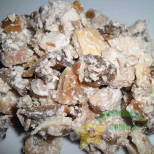 """Салат """"Питательный"""" из куриной грудки с грибами"""