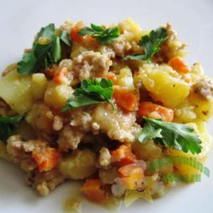 тушеная картошка с фаршем рецепт с фото