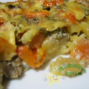 Вкусная запеканка из картофеля с грибами