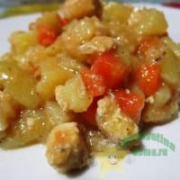 Рецепт тушеной картошки с курицей простой быстрый