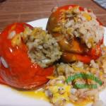 Перец фаршированный фаршем и рисом с овощами – рецепт очень вкусный
