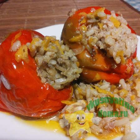 Перец фаршированный фаршем рисом овощами рецепт