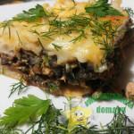 Запеканка из макарон с фаршем и грибами – вкусно и быстро