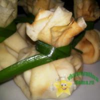 Блинные мешочки с начинкой из семги