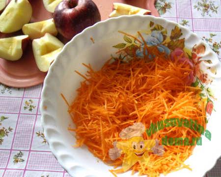 трем морковку для начинки